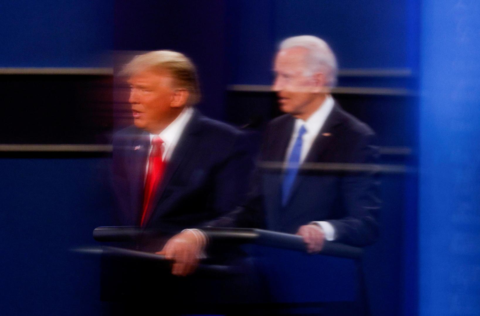 المرشح الديمقراطي المنتخب جو بايدن والرئيس الأمريكي دونالد ترامب