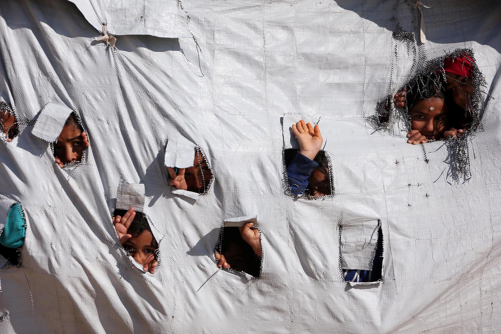 أطفال في مخيم الهول - الحسكة - صورة أرشيفية