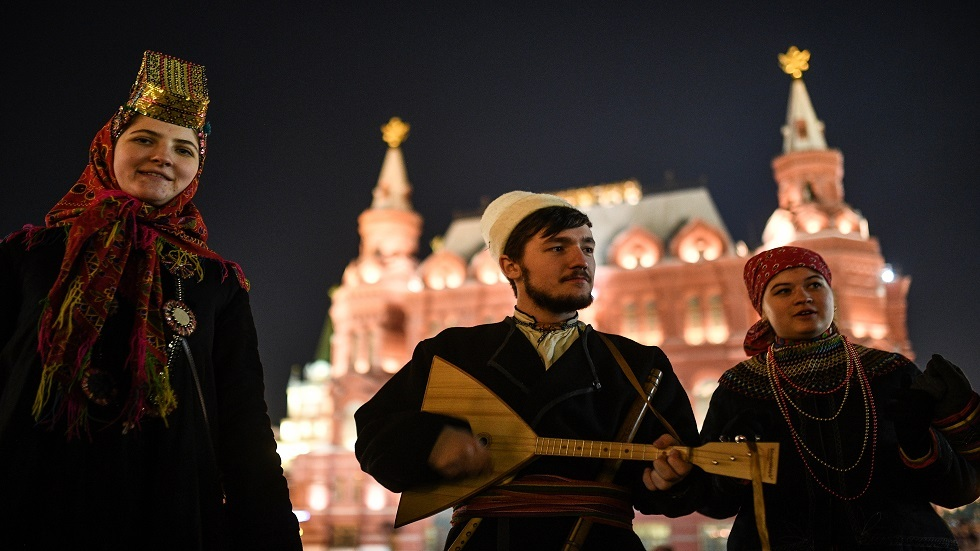 Balalika is a popular musical symbol of Russia