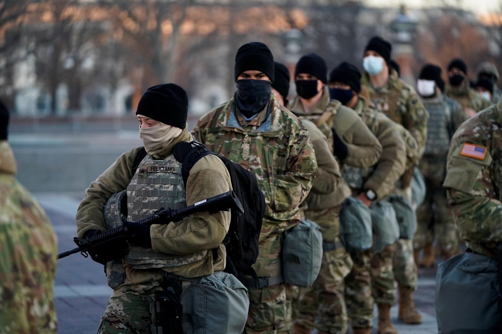 الدفع بأكثر من 20 ألف عنصر حرس وطني لتأمين النظام العام في واشنطن يوم تنصيب بايدن