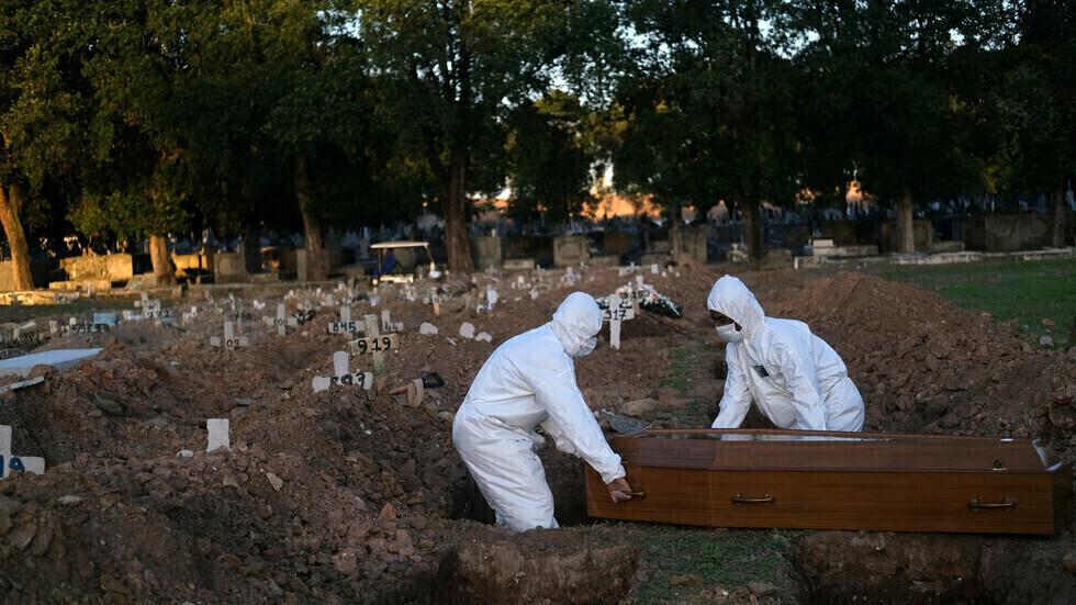 البرازيل تسجل نحو 61 ألف إصابة و1274 وفاة جديدة بكورونا