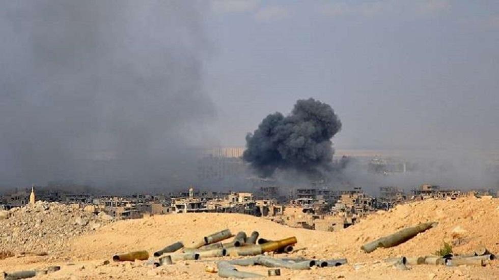 قصف في دير الزور (صورة أرشيفية)