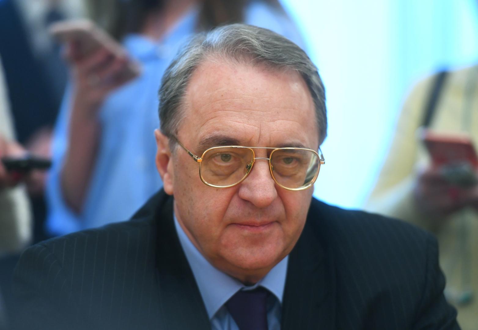 بوغدانوف يستقبل ممثلين عن حركة