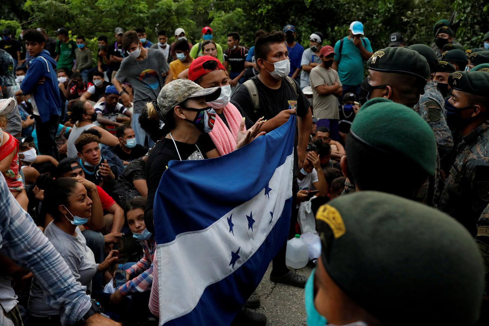 قافلة مهاجرين جديدة تنطلق من هندوراس إلى الولايات المتحدة