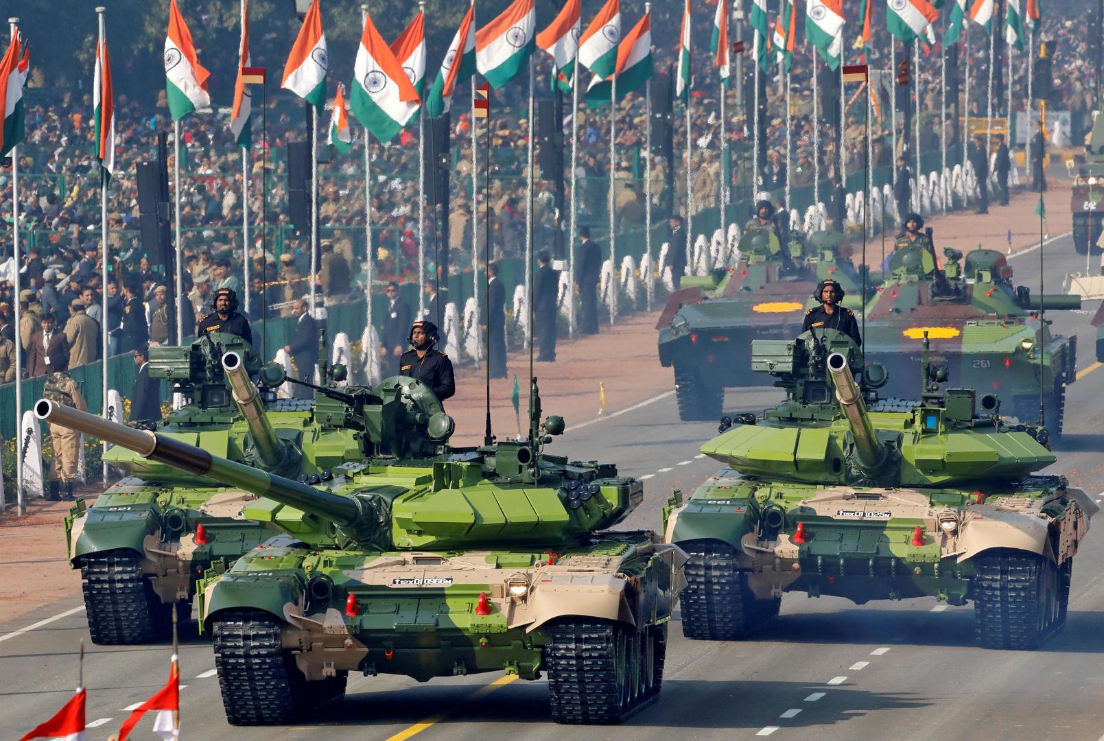 استعراض للقوات المسلحة الهندية في نيودلهي في 2019. الصورة: أرشيف.