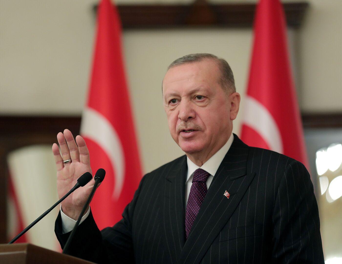 صورة من الأرشيف - الرئيس التركي رجب طيب أردوغان