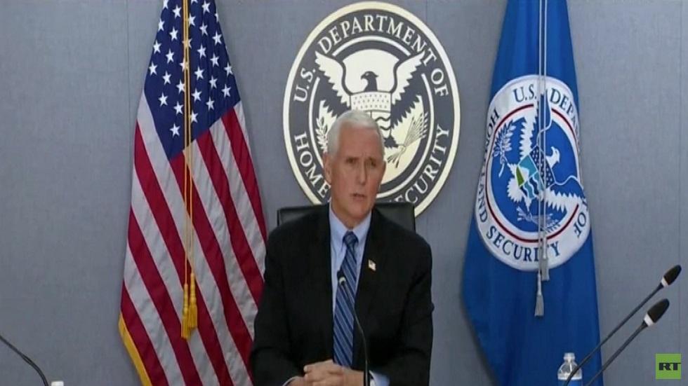 بنس يتعهد بضمان انتقال آمن للسلطة