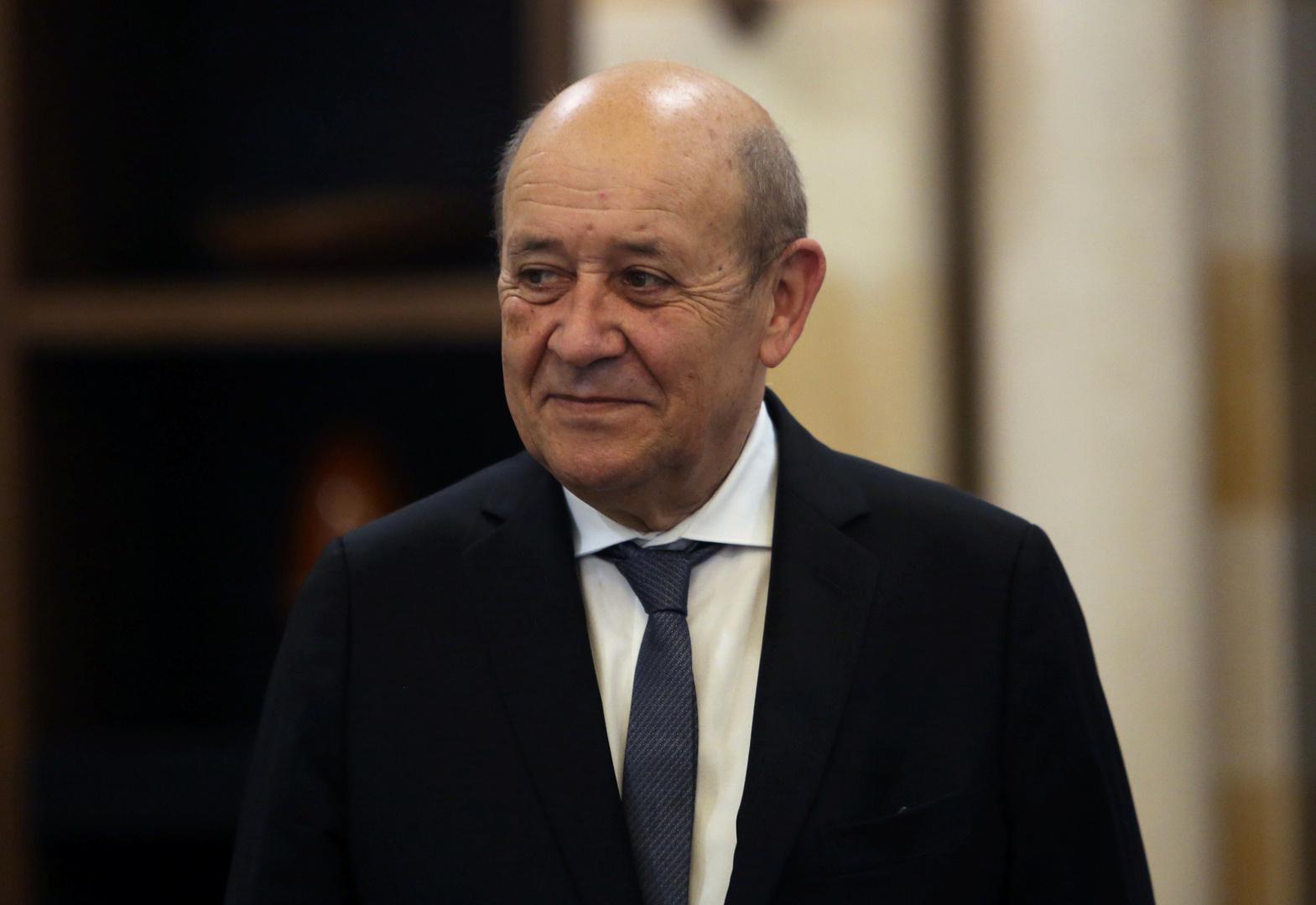 وزير الخارجية الفرنسي، جان إيف لودريان