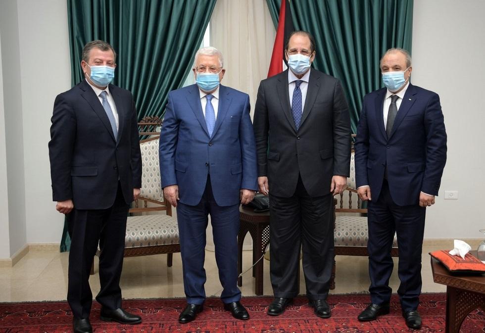 الرئيس الفلسطيني يستقبل رئيسي المخابرات المصرية والأردنية