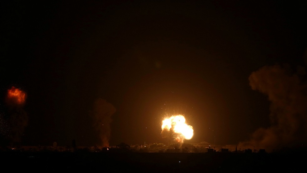 غارة إسرائيلية على غزة (صورة أرشيفية)