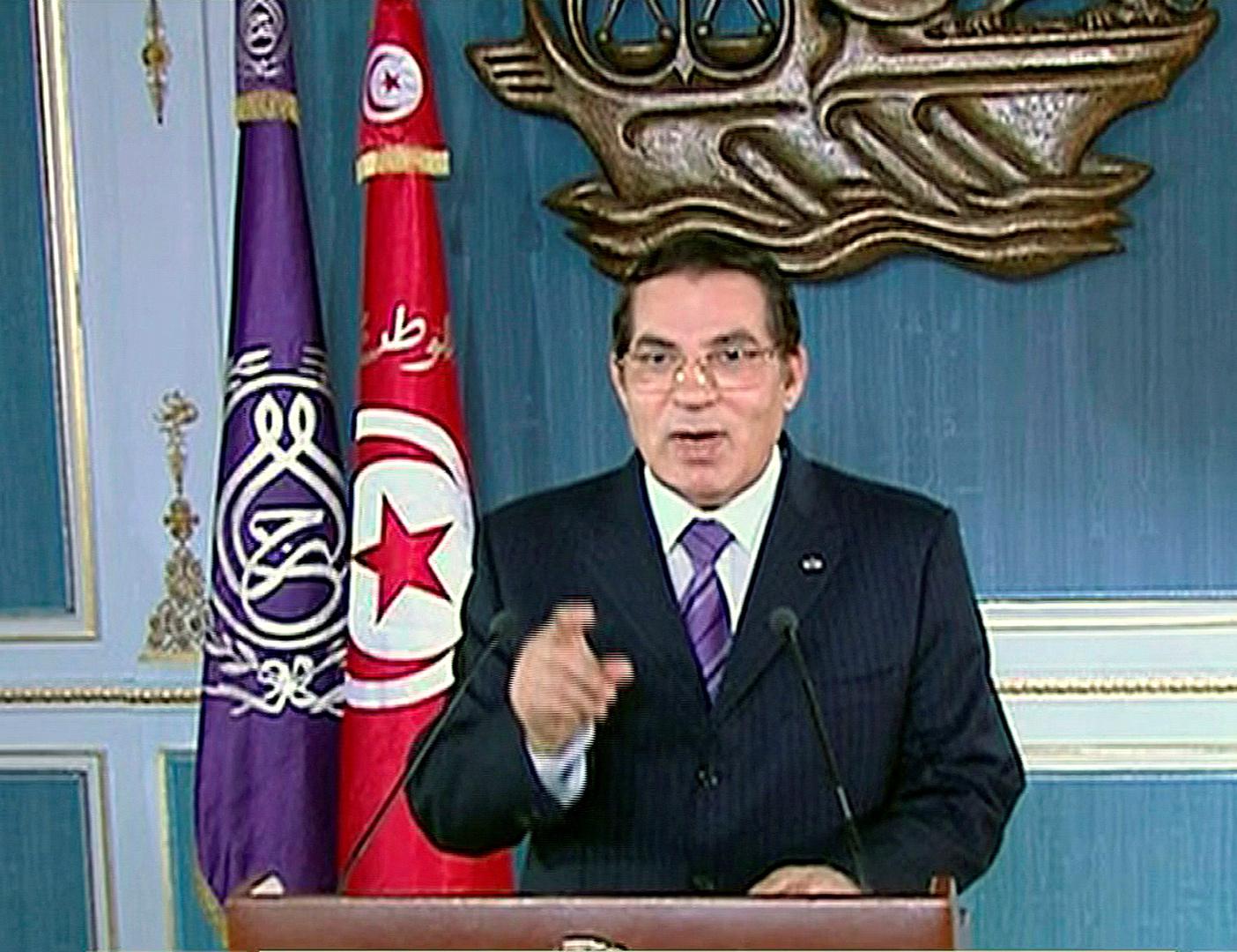 الرئيس التونسي الأسبق الراحل زين العابدين بن علي.