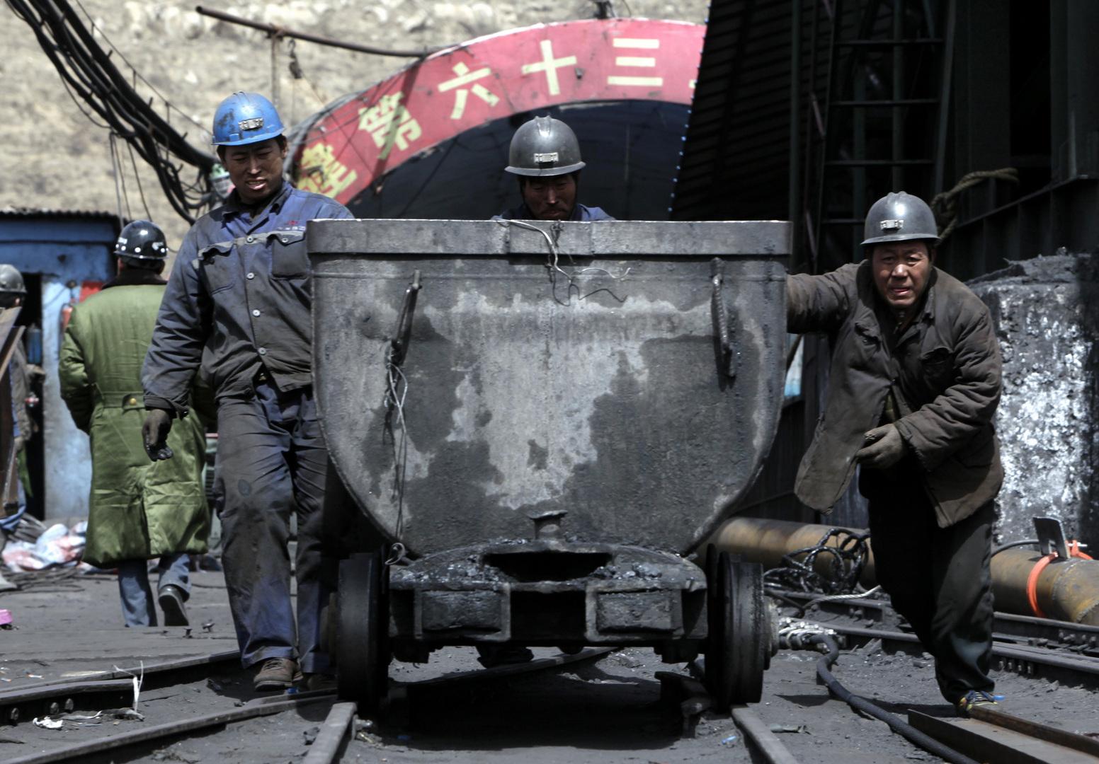 عمال منجم شانتشي في الصين. الصورة: أرشيف.