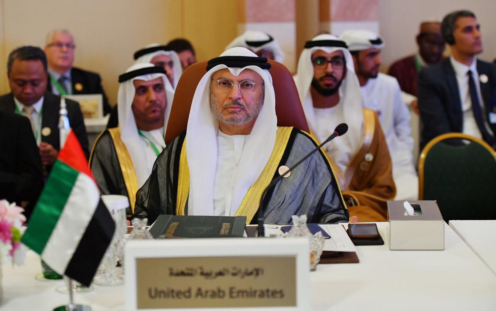 وزير الخارجية الإماراتي أنور قرقاش
