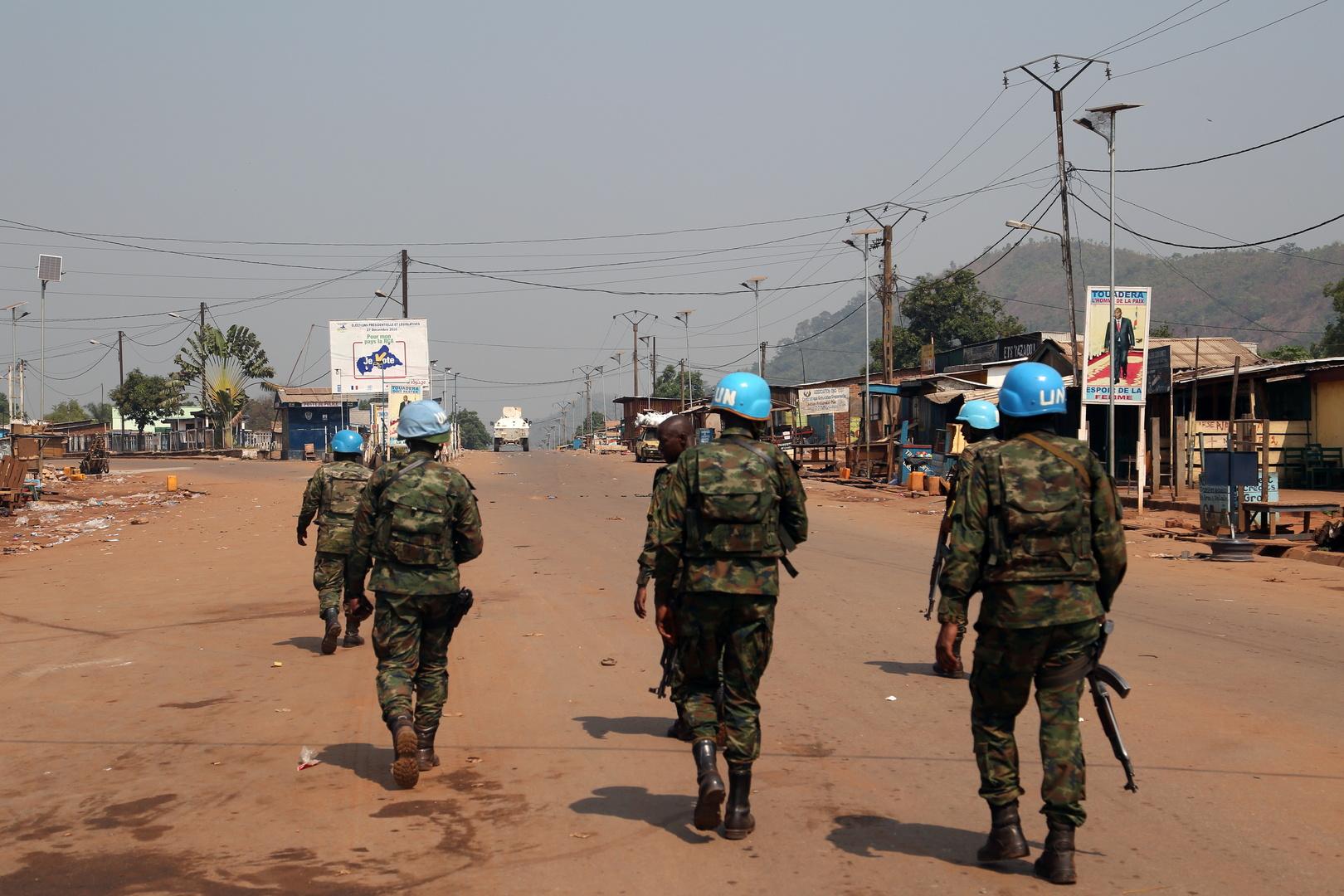 مقتل عنصرين من البعثة الأممية أحدهما عربي في إفريقيا الوسطى