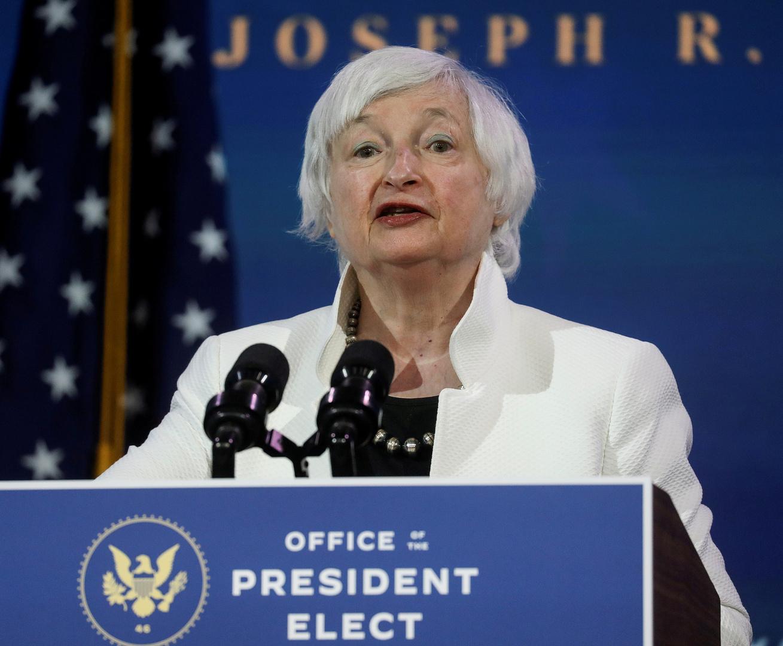 جانيت يلين، مرشحة الرئيس الأمريكي المنتخب جو بايدن لمنصب وزيرة الخزانة