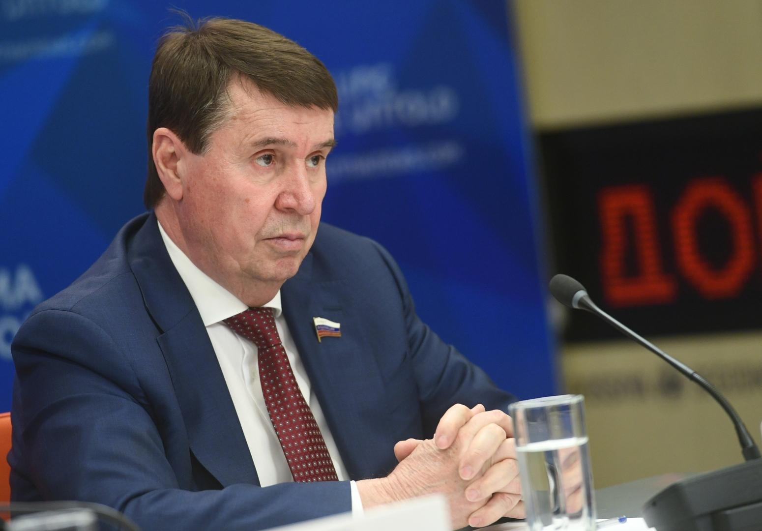 سيرغي تسيكوف، عضو لجنة العلاقات الدولية في مجلس الاتحاد الروسي