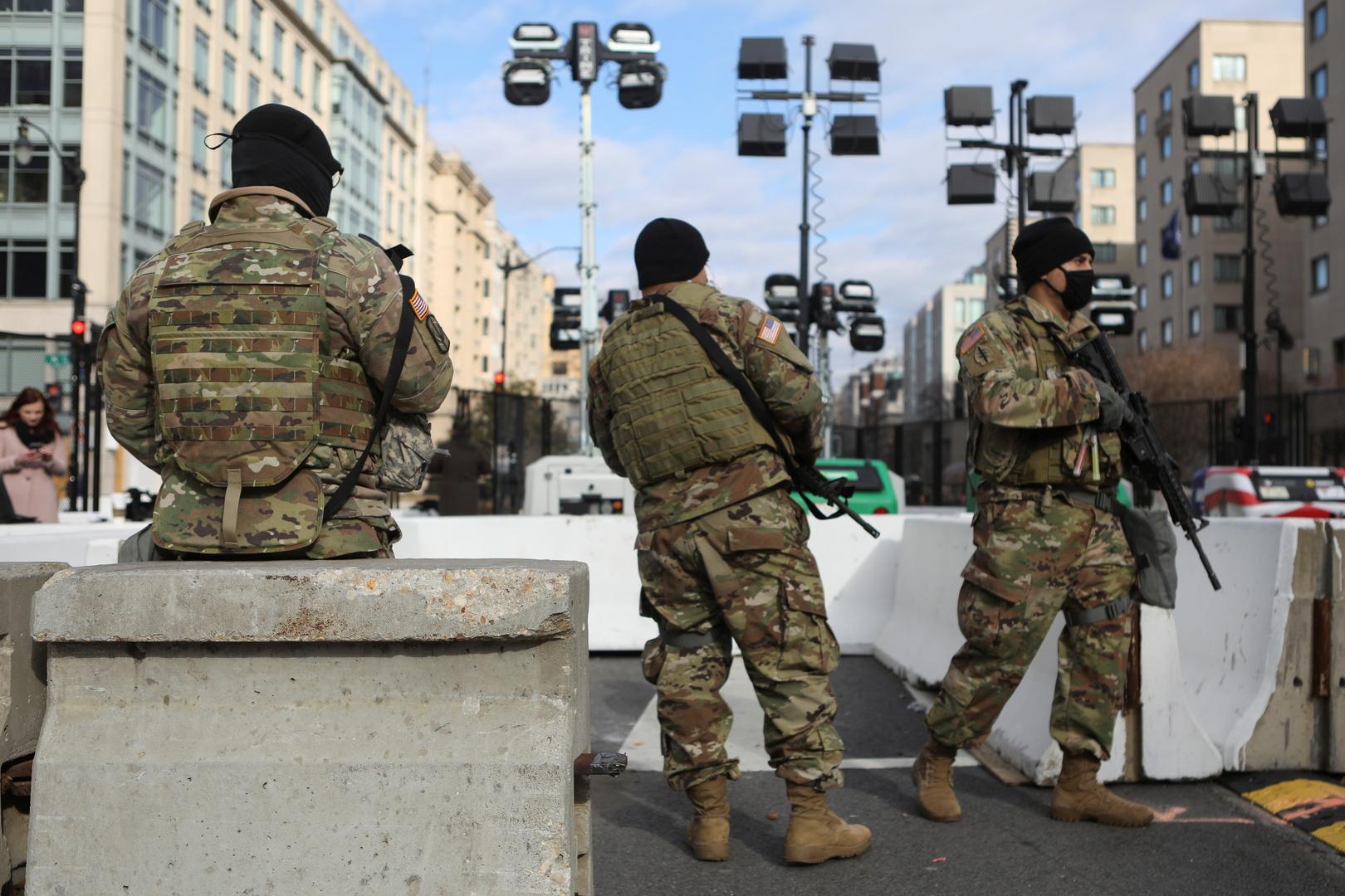 مجموعة من عناصر الحرس الوطني الأمريكي في واشنطن