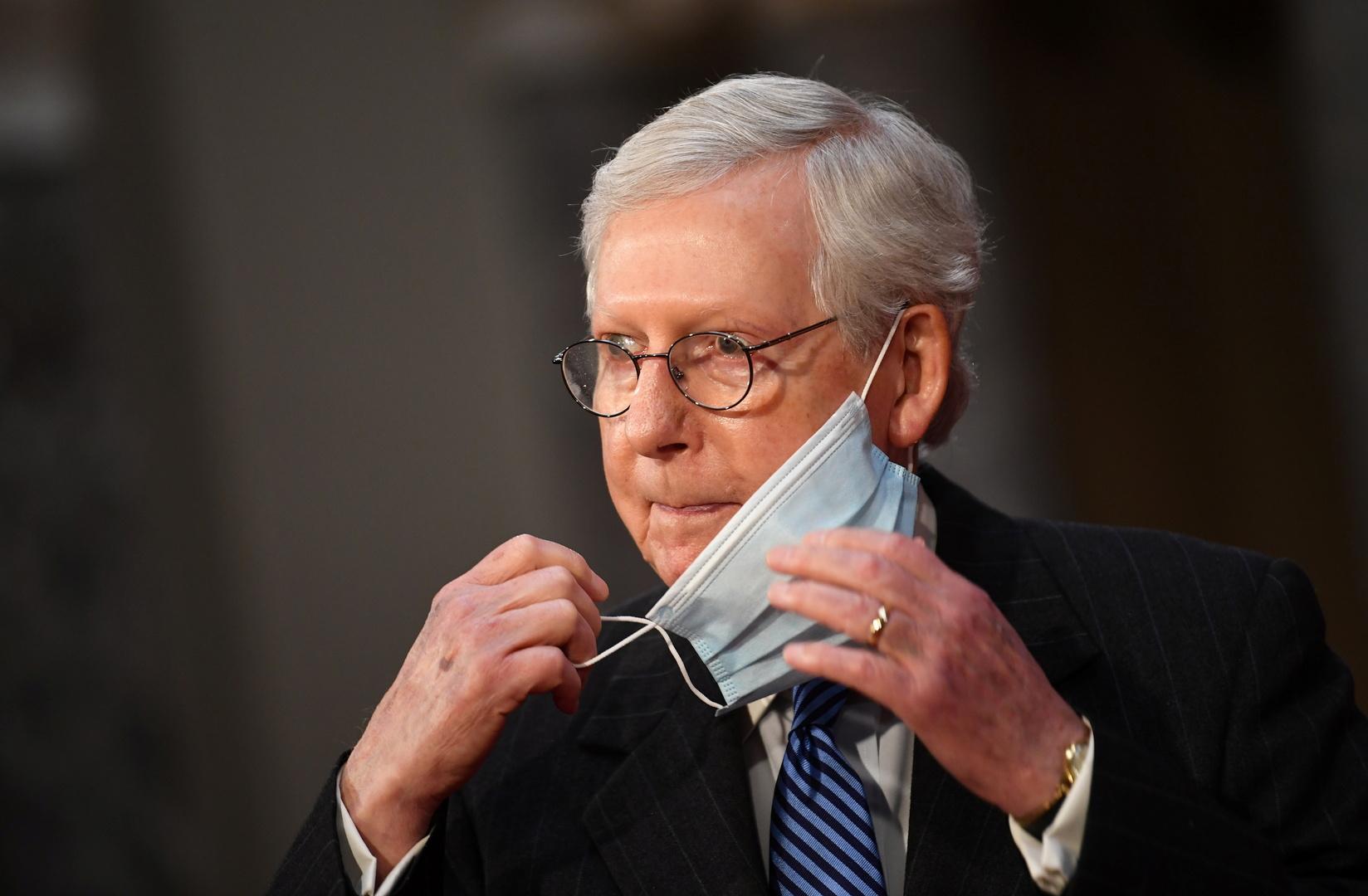 زعيم الجمهوريين في مجلس الشيوخ الأمريكي ميتش مكونيل