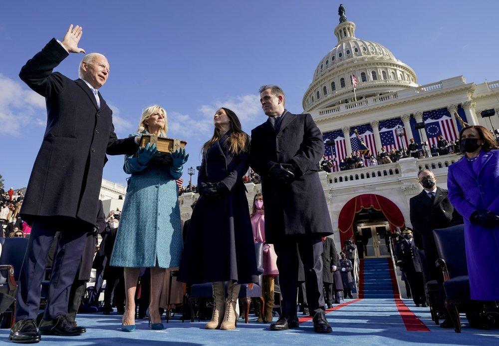 مراسم تنصيب جو بايدن رئيسا للولايات المتحدة