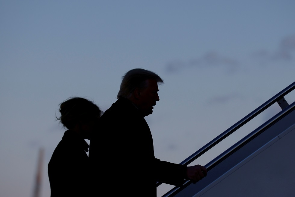 وداع بارد لترامب في قاعدة أندروز الجوية