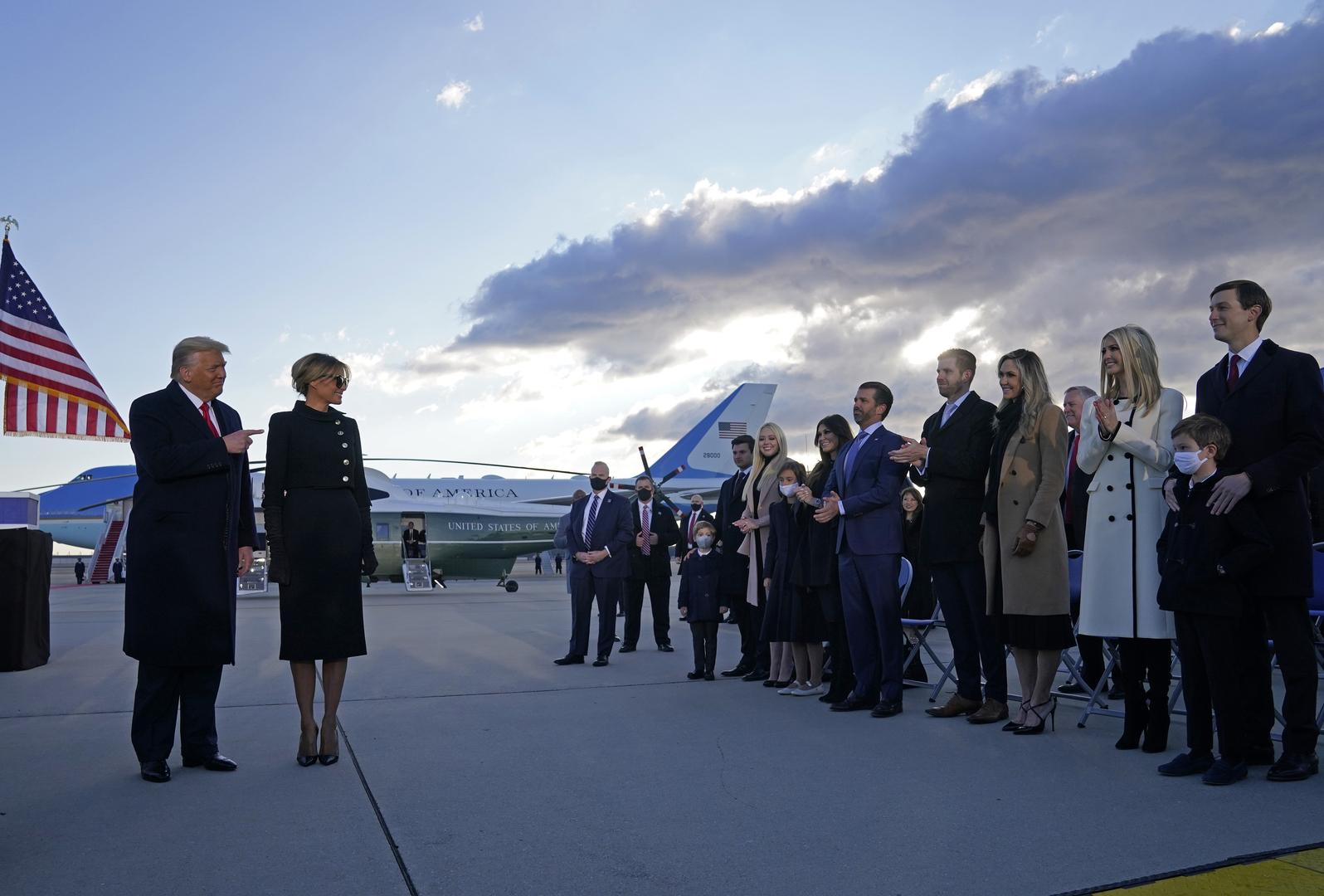 الرئيس الأمريكي السابق دوتنالد ترامب وأفراد عائلته