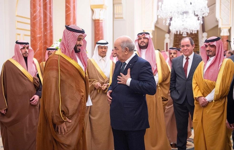 الرئيس الجزائري عبد المجيد تبون وولي العهد السعودي محمد بن سلمان -أرشيف-
