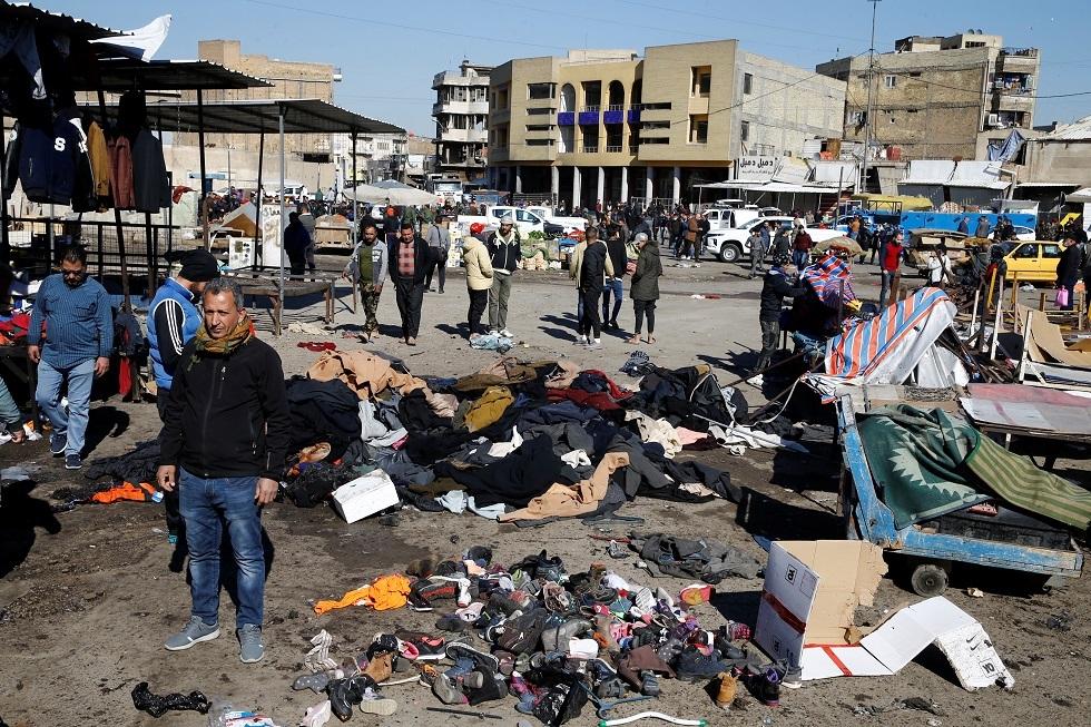 موقع تفجيرات بغداد في 21 يناير 2021