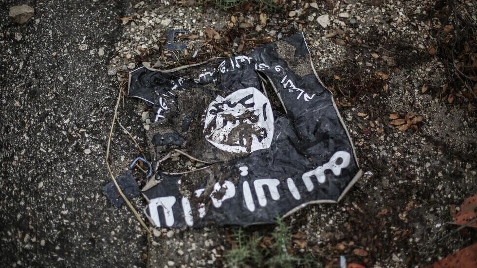 """راية تنظيم """"داعش"""" الإرهابي."""