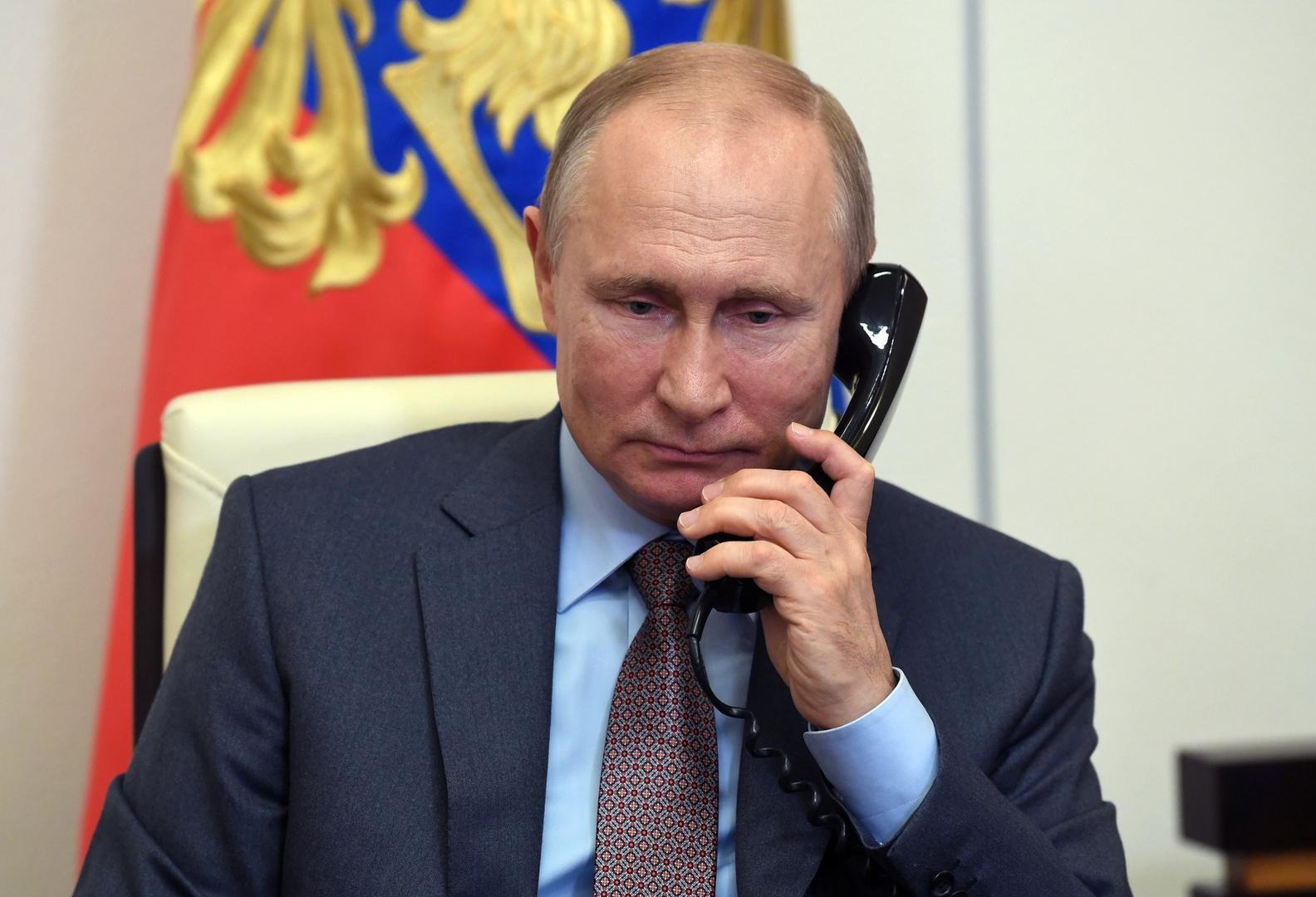 بوتين يبحث مع رئيس المجلس الأوروبي قضية نافالني
