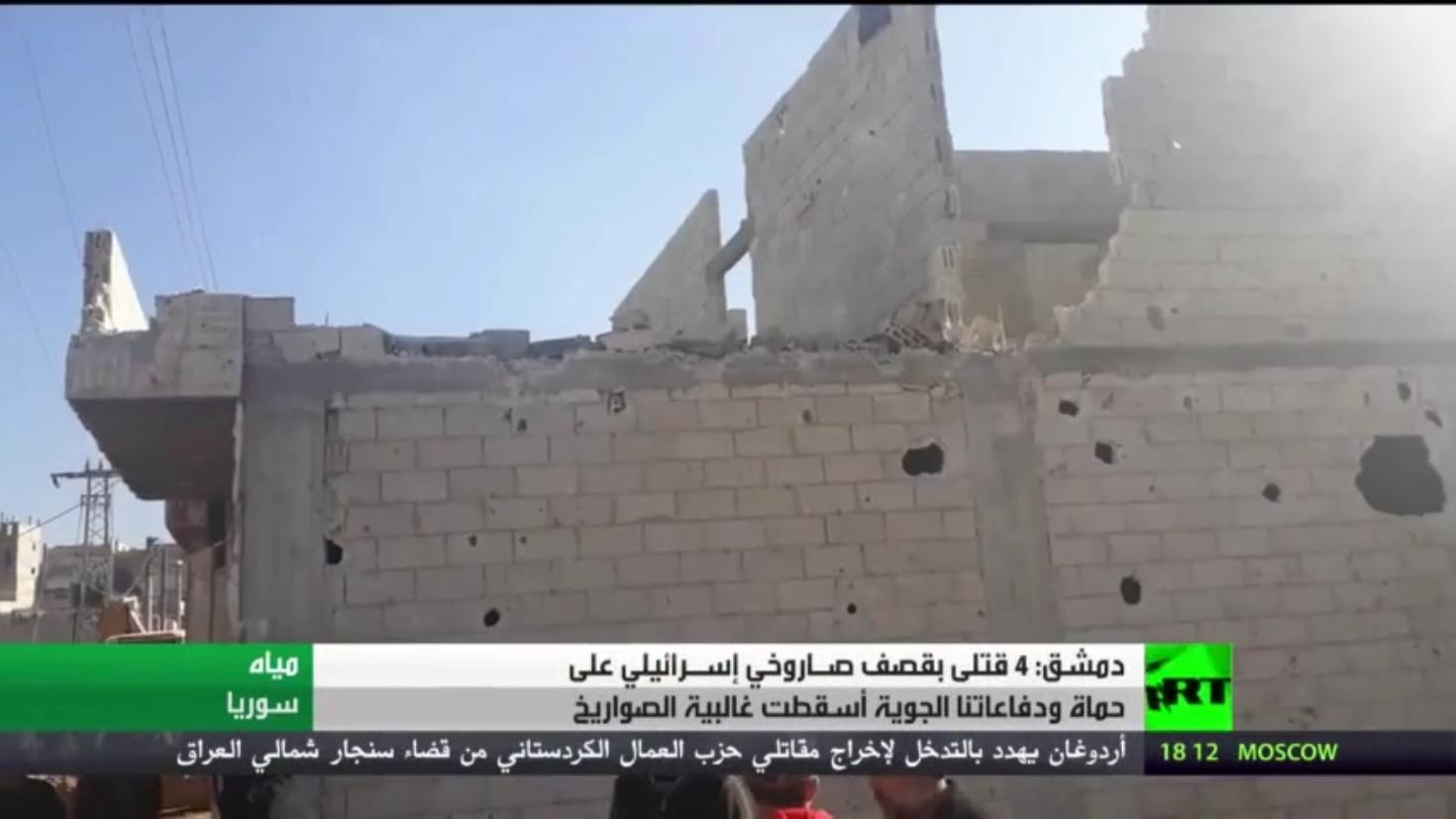 سوريا.. 4 قتلى بقصف إسرائيلي على حماة