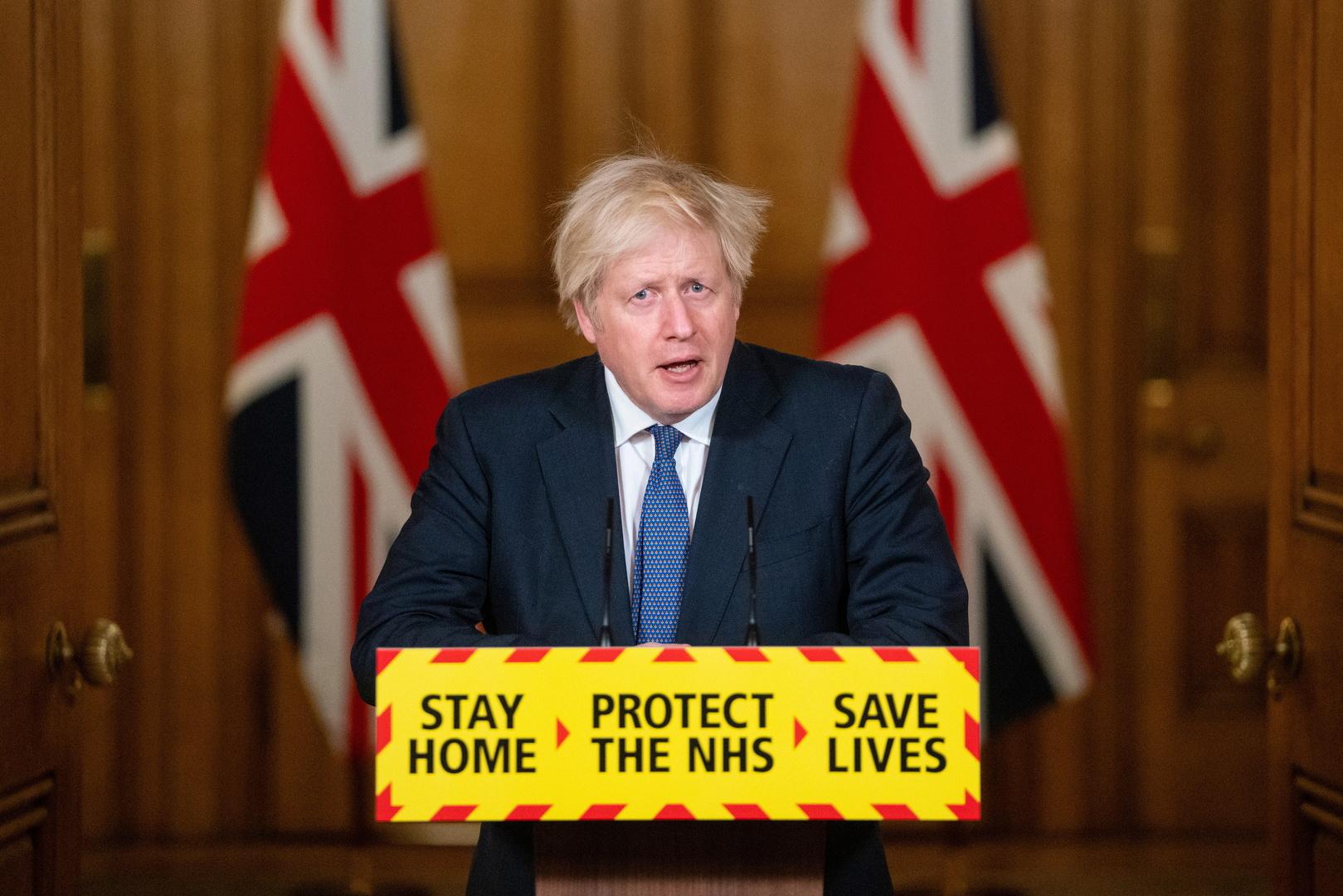 رئيس الوزراء البريطاني، بوريس جونسون.