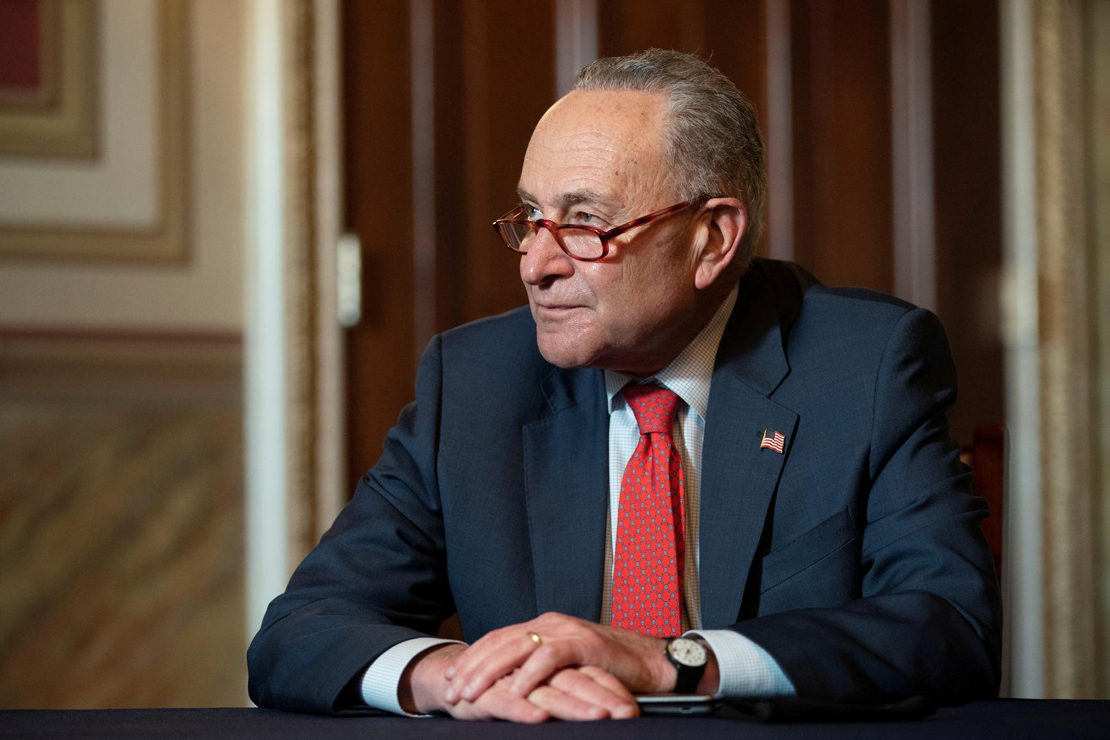 زعيم الأغلبية الديمقراطية في مجلس الشيوخ بالكونغرس الأمريكي، تشاك شومير.