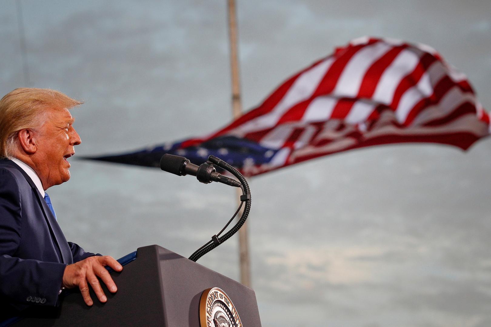 الرئيس الأمريكي السابق دونالد ترامب