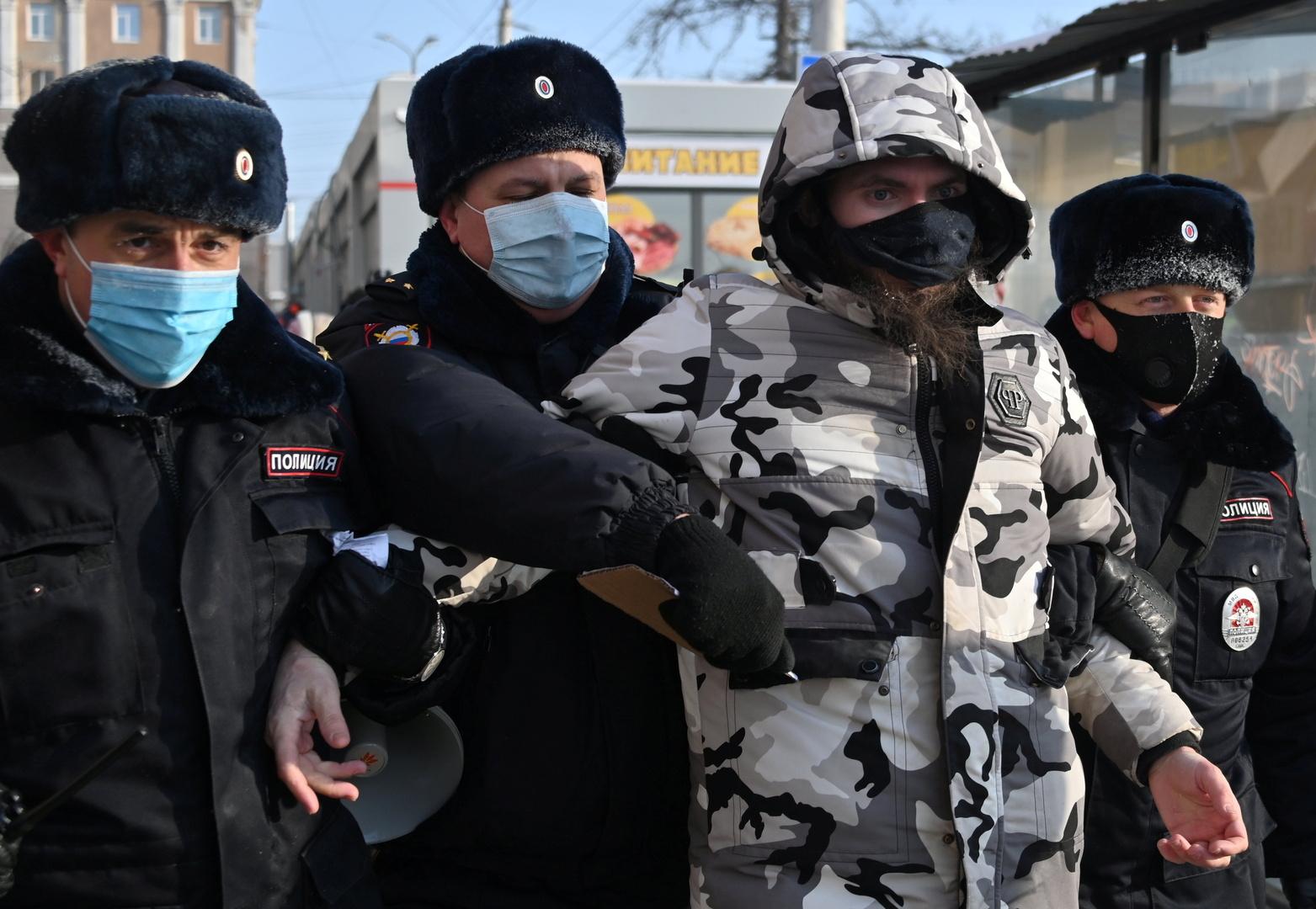 مظاهرات غير مرخص بها في روسيا دعما لنافالني