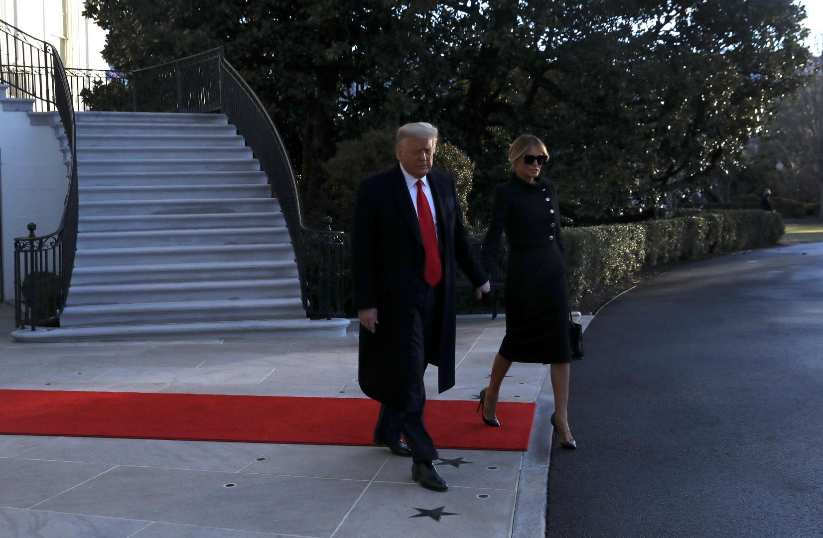 دونالد ترامب يغادر البيت الأبيض