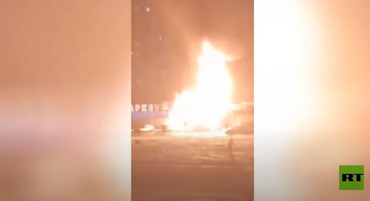 لحظة انفجار في أحد أسواق كراسنودار الروسية
