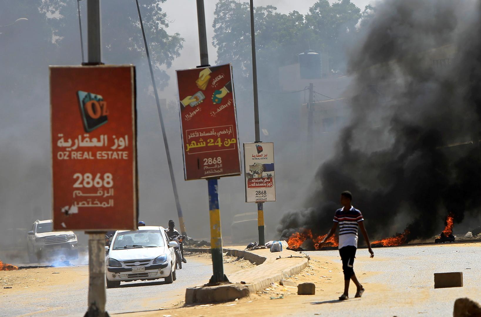 احتجاجات وقطع طرقات في الخرطوم