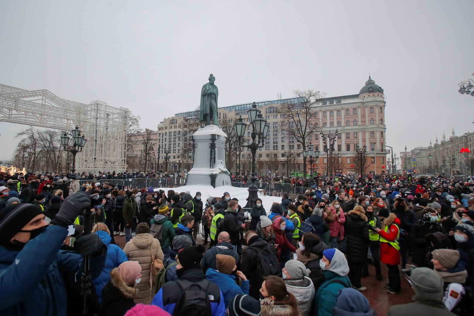 إطلاق سراح معظم المحتجزين وجميع القاصرينالذين شاركوا في مظاهرات غير مرخص لها في موسكو