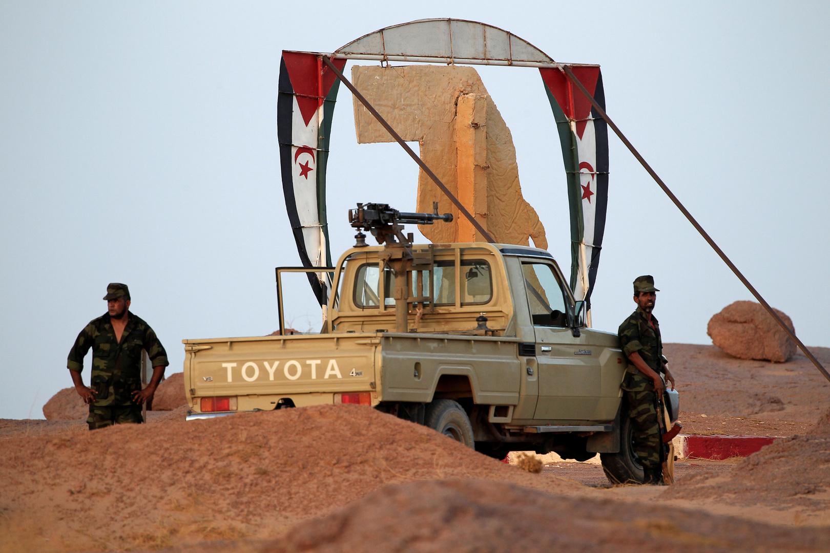 عناصر وآلية تابعة لجبهة البوليساريو