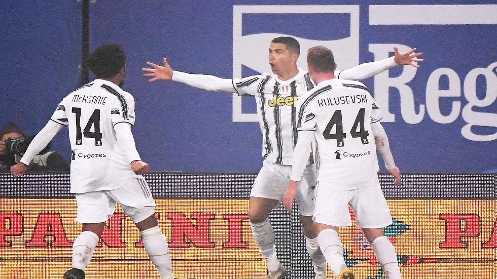 رونالدو يقود يوفنتوس أمام بولونيا في الدوري الإيطالي