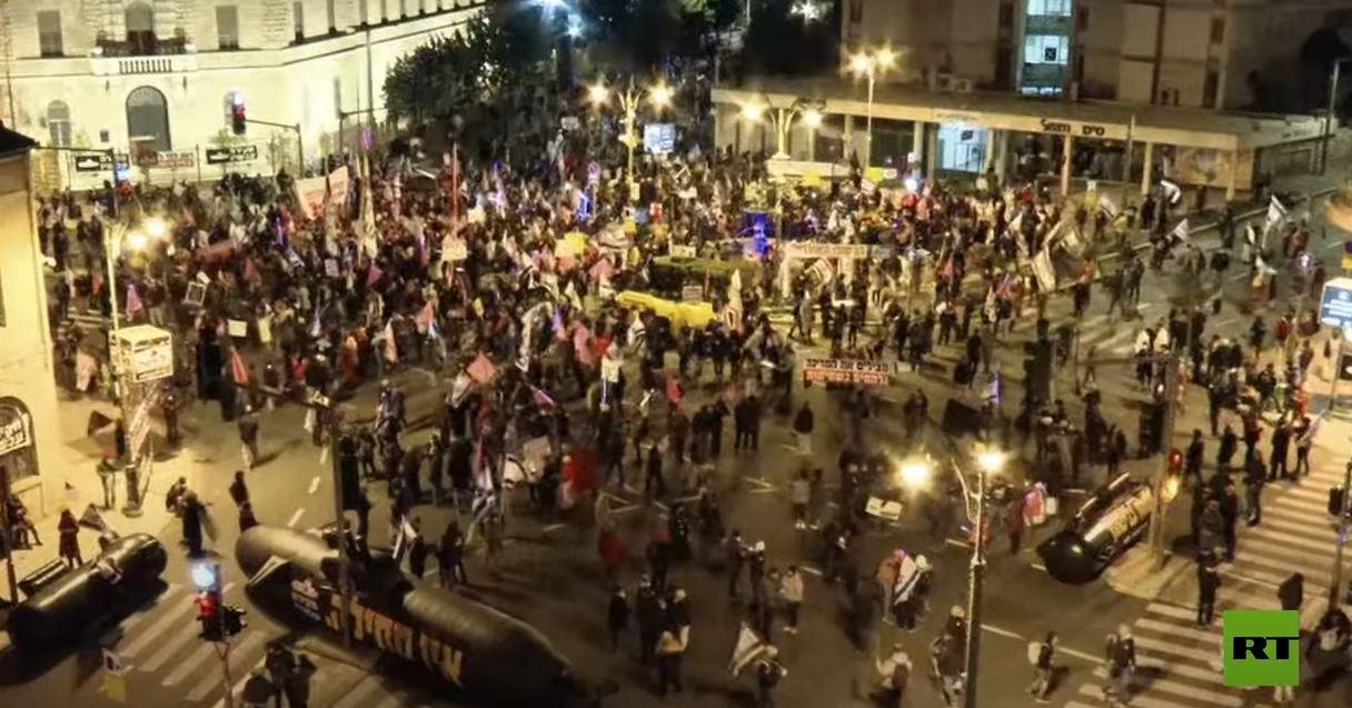أكثر من 1000 شخص يتظاهرون ضد نتنياهو في القدس