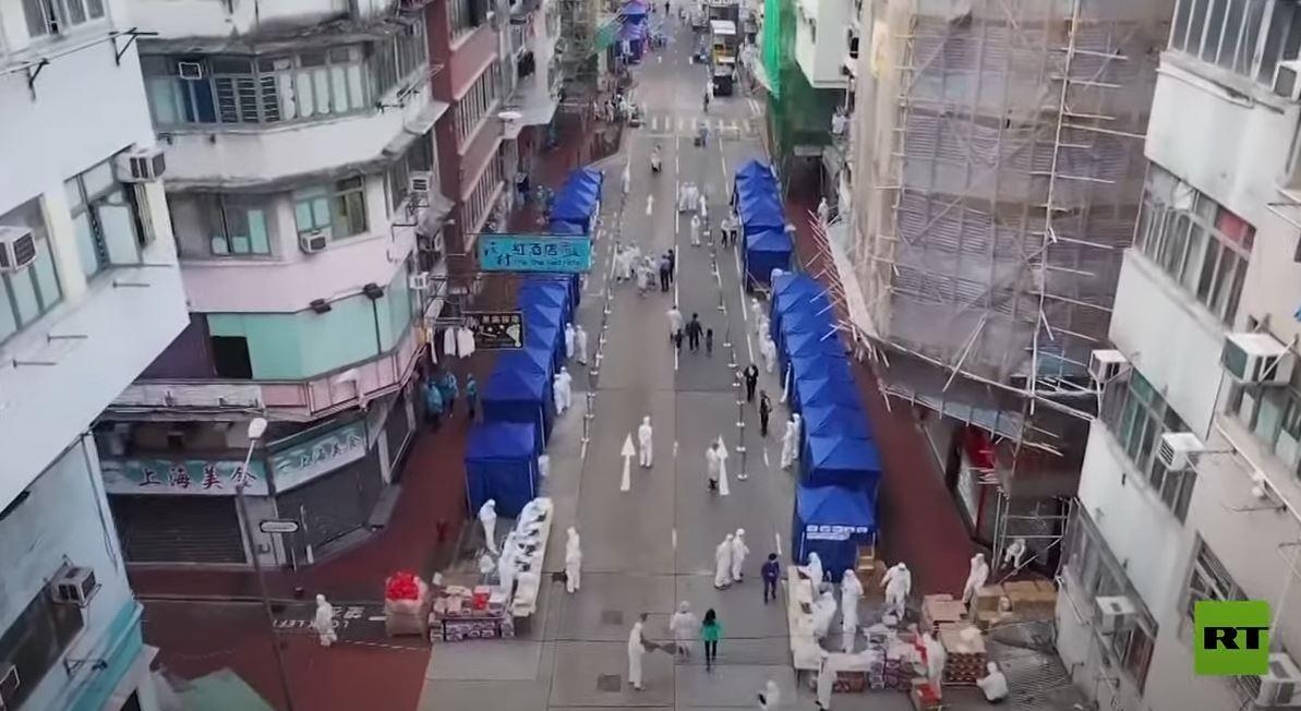 هونغ كونغ تحجر حيا بأكمله وتجري اختبارات جماعية لآلاف السكان