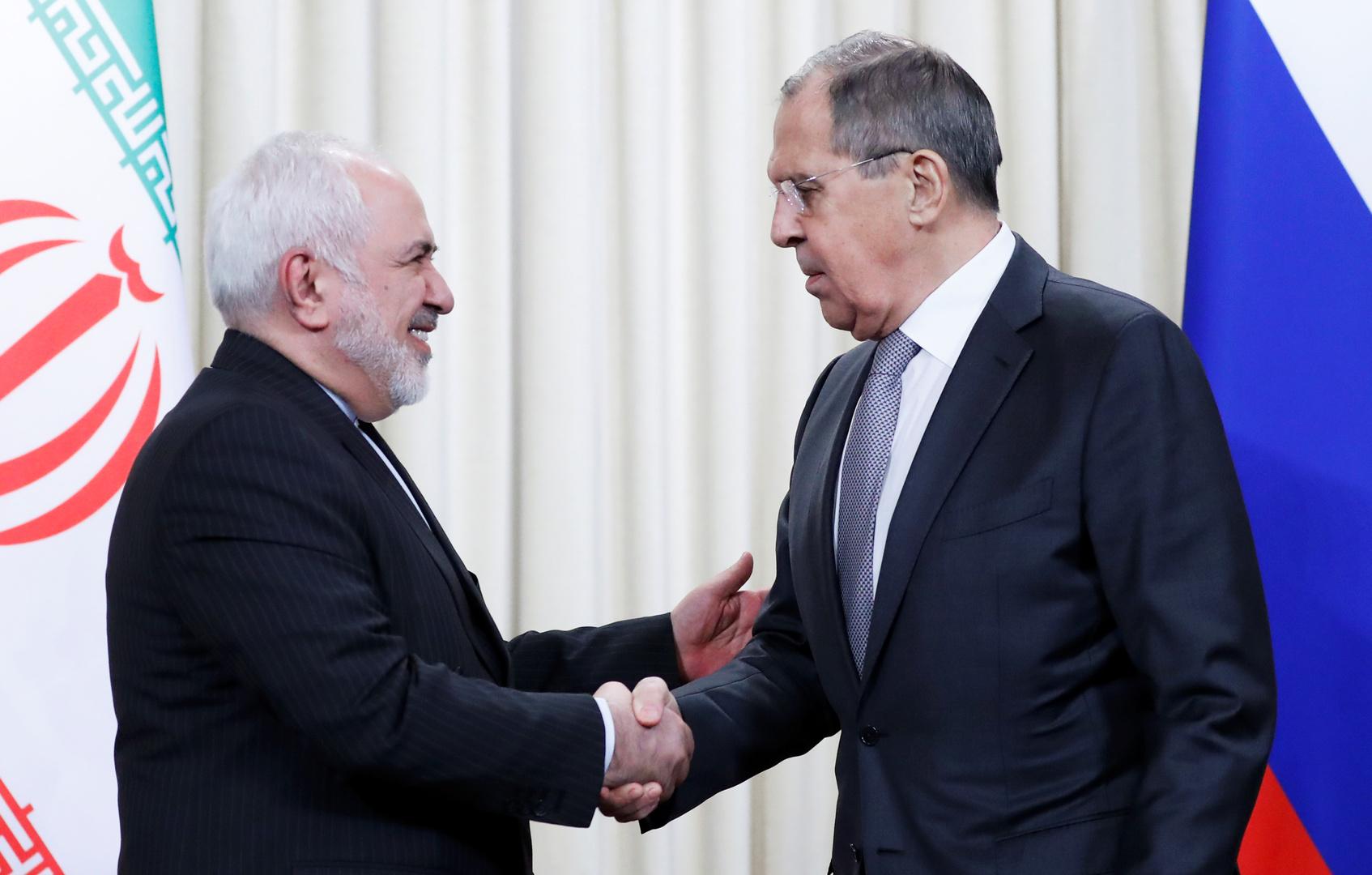 وزير الخارجية الروسي سيرغي لافروف ونظيره الإيراني جواد ظريف