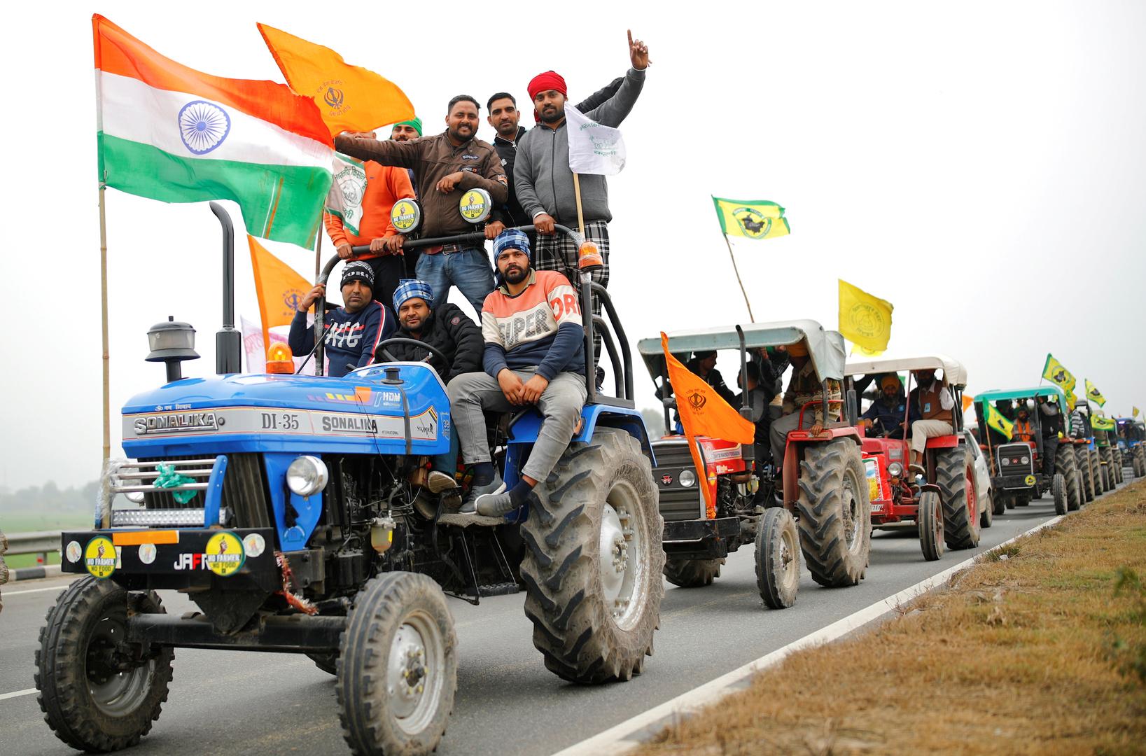 قتيل في اشتباكات بين قوات الأمن والمزارعين المحتجين ضد الإصلاح الزراعي في الهند