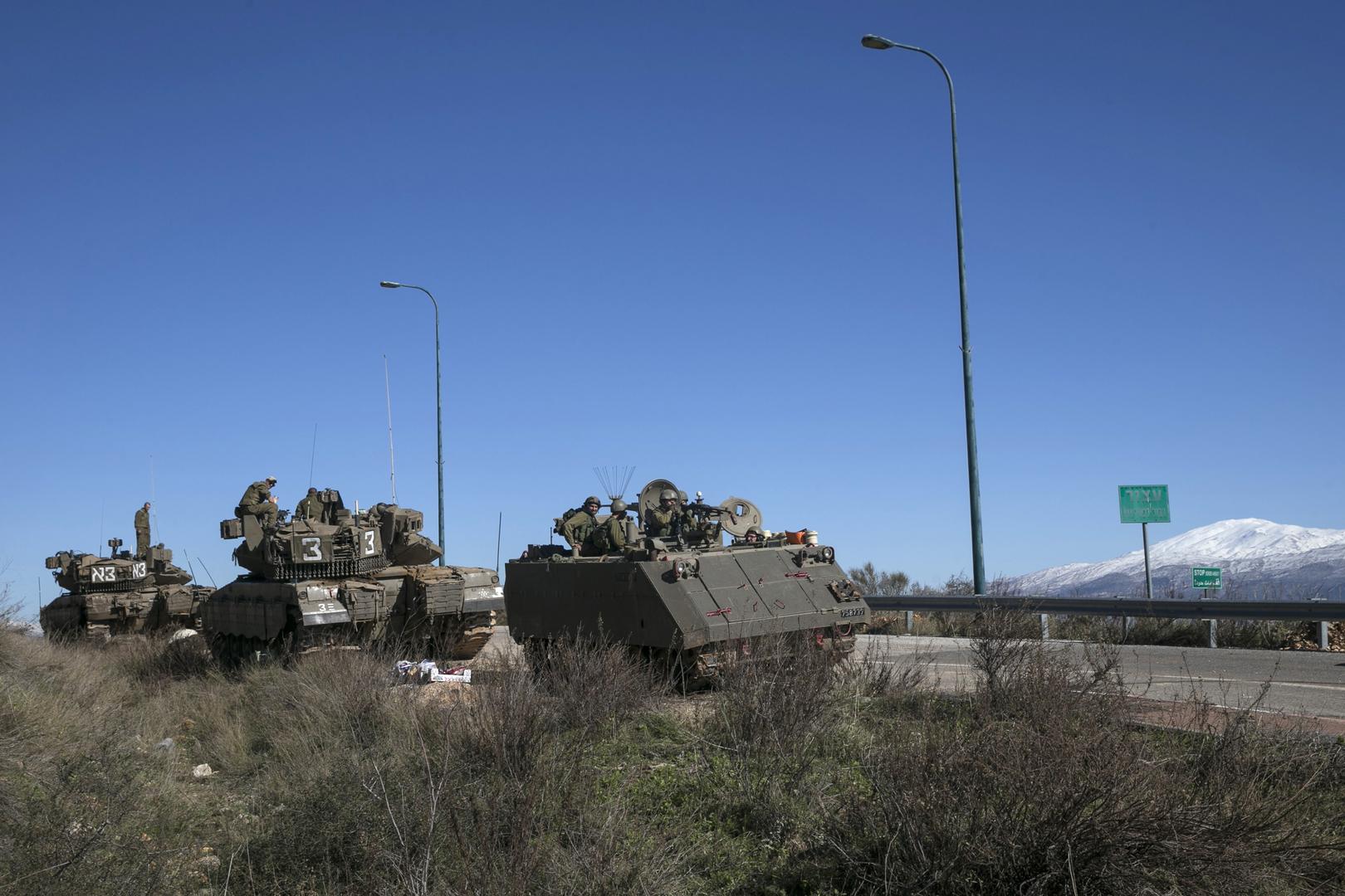 حركة كثيفة للجيش الإسرائيلي على الحدود اللبنانية