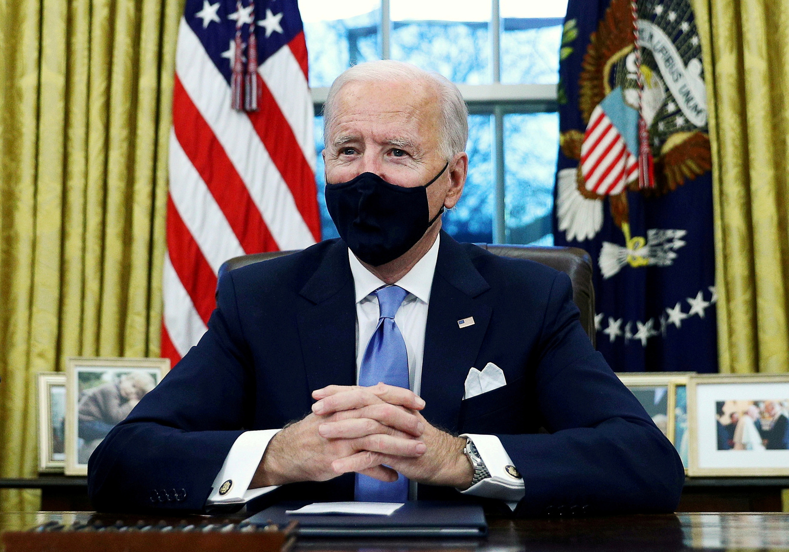 Biden renews the US commitment to the collective defense of NATO