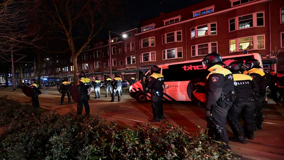 Netherlands .. Riots and protests broke out for the fourth consecutive day due to Corona