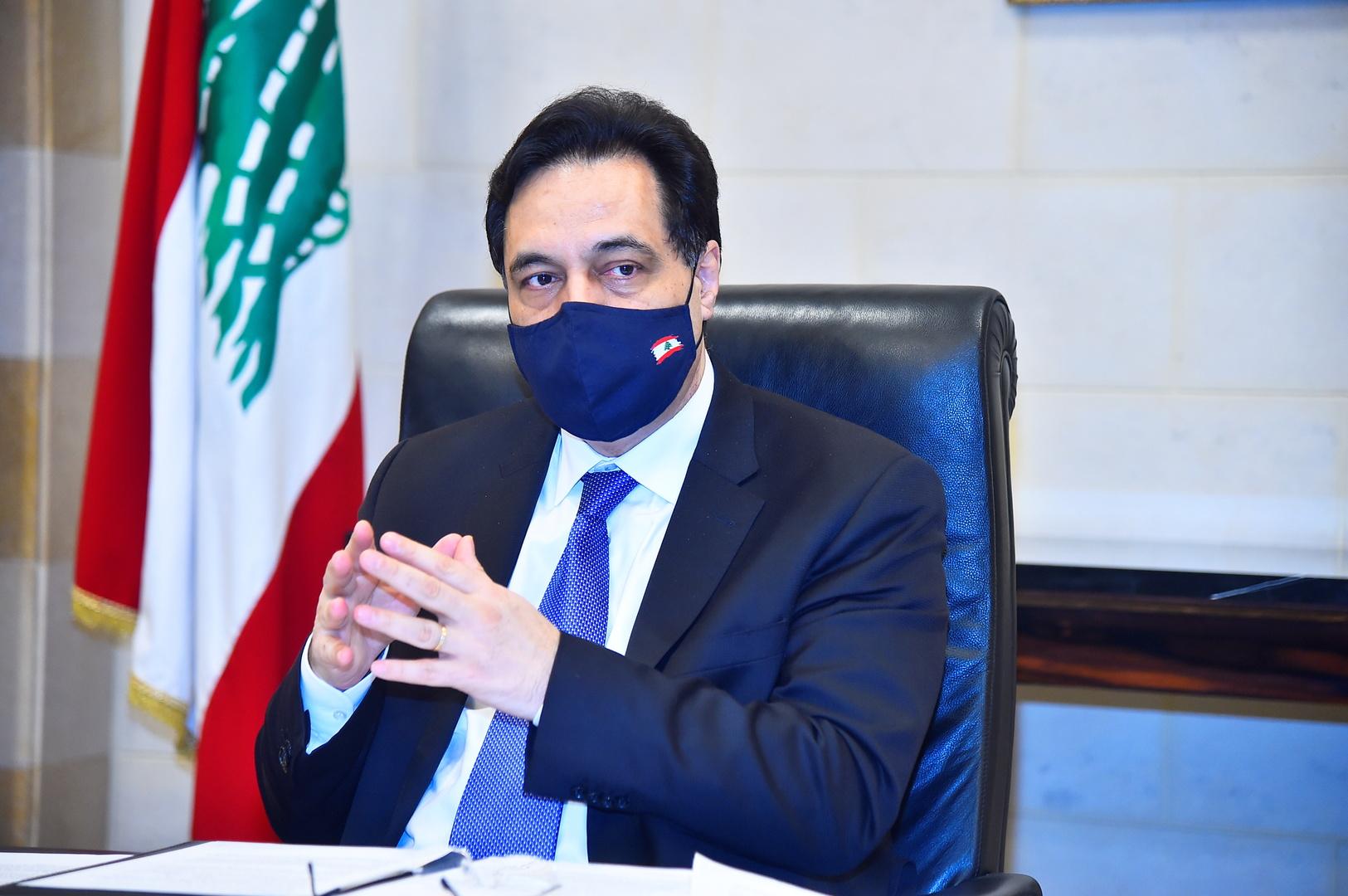 رئيس حكومة تصريف الأعمال اللبنانية، حسان دياب