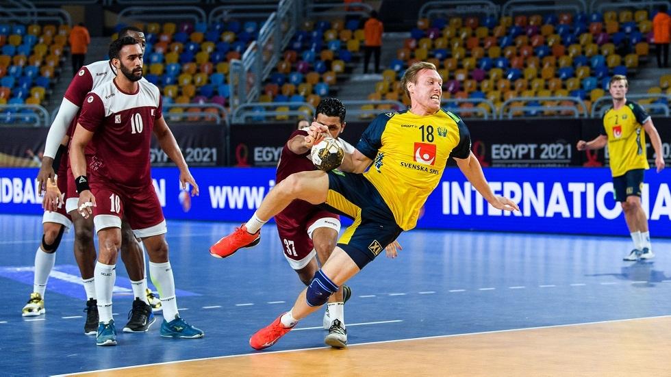 قطر تودع مونديال اليد بخسارة كبيرة أمام السويد