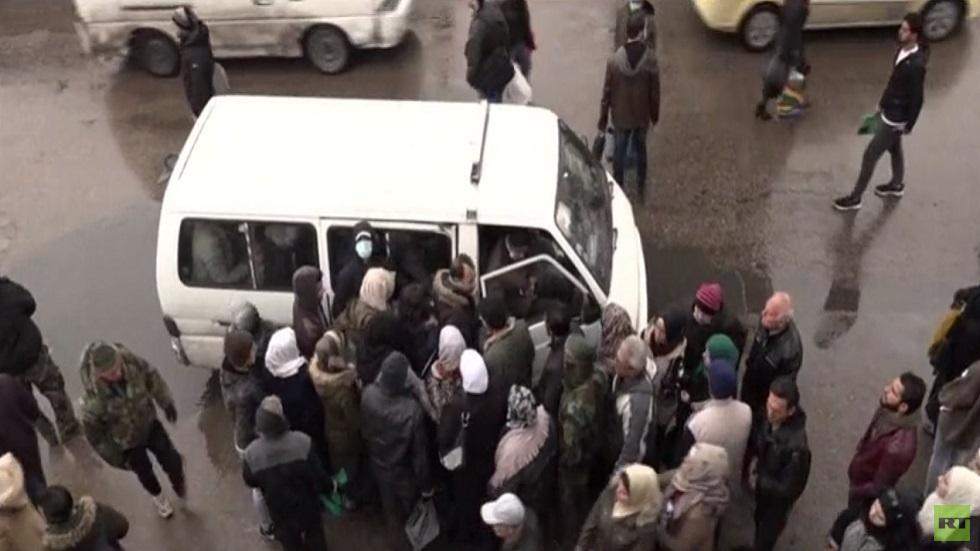 دمشق.. أزمة المواصلات والوقود